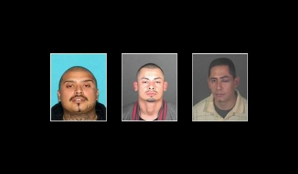 . Federal officials conducting an MS-13 gang sweep Wednesday, May 17, 2017, announced that they were still looking for Irwin Garcia, let, Jesse Perez and Jorge Ramos. (Photos courtesy of the FBI)