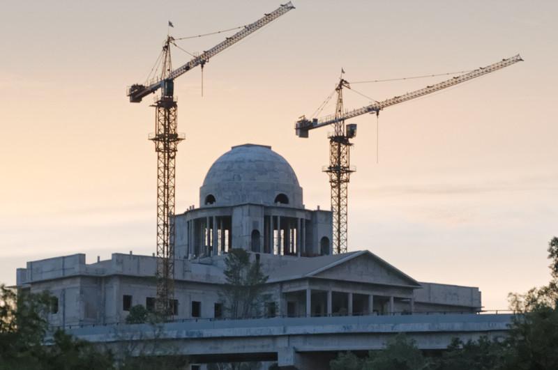 Hier wird der Palast des Kronprinzen gebaut.