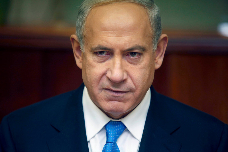 . Israel\'s Prime Minister Benjamin Netanyahu attends the weekly cabinet meeting in Jerusalem January 20, 2013. Netanyahu said on Saturday a country with as many enemies as Israel cannot afford a weak ruling party, after polls ahead of Tuesday\'s parliamentary election showed a slide in his support. REUTERS/Gali Tibbon