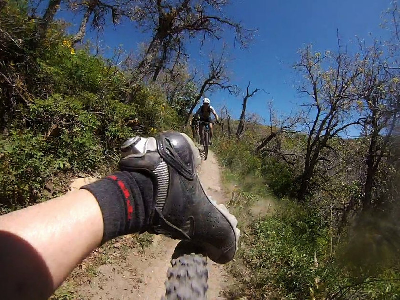 Then Leg, Foot, Shoe make contact with tire. YES he saved it! It is RIck whos leg foot and shoe are in the photo behind watching is Tom & Don