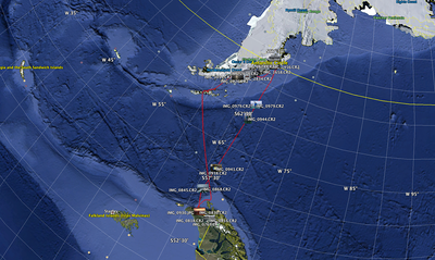 Antarctica Trip Map Jan 2013