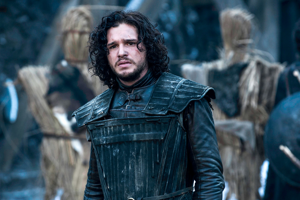 """. This image released by HBO shows Kit Harington in a scene from \""""Game of Thrones.\""""  The series garnered 19 Emmy Award nominations on Thursday, July 10, 2014, including one for best drama series. (AP Photo/HBO, Helen Sloan)"""