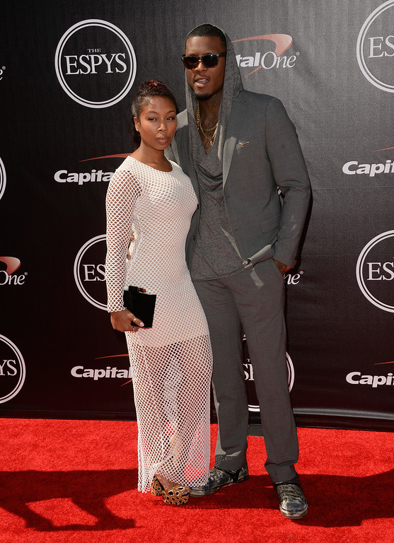 . LOS ANGELES, CA - JULY 16:  NFL player Steve Johnson (R) attends The 2014 ESPYS at Nokia Theatre L.A. Live on July 16, 2014 in Los Angeles, California.  (Photo by Jason Merritt/Getty Images)
