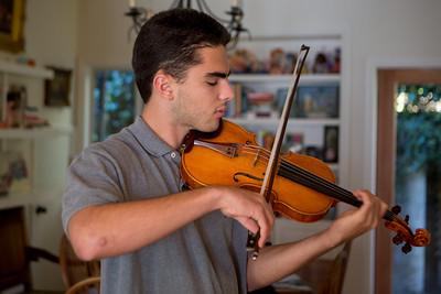 Seth Weiland Violin recording session December 1,2013