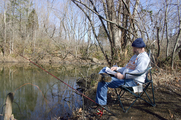 Fishing Along the Linear Trail - February 2007