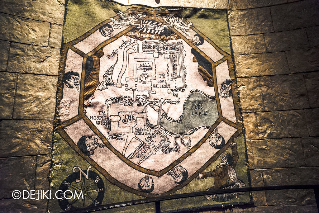 Universal Studios Japan - Harry Potter and the Forbidden Journey / Hogwarts Castle Walk Tour - Tapestry Map of Hogwarts Grounds