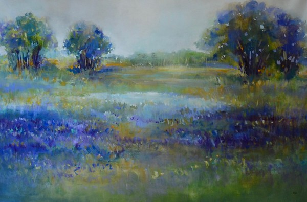 """Wildflower View - Nari, 40""""x60"""" acrylic painting on canvas"""