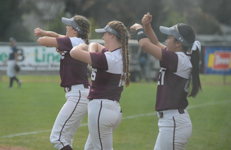 Chico State players cheer their teammates on, Friday, March 9, 2018, in Chico, California. (Carin Dorghalli -- Enterprise-Record)