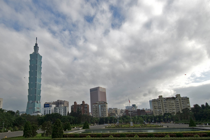 Taipei 101 towering above the city skyline - Taipei, Taiwan