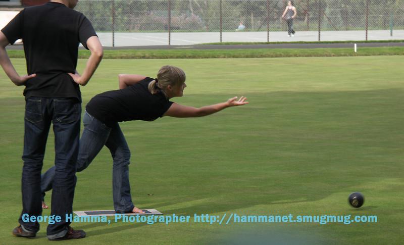 Lawn bowling in Kelvingrove Park.