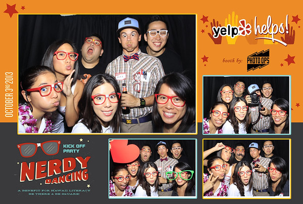 Yelp Helps Nerdy Dance Party at Kakaako (Stand Up Photo Booth)