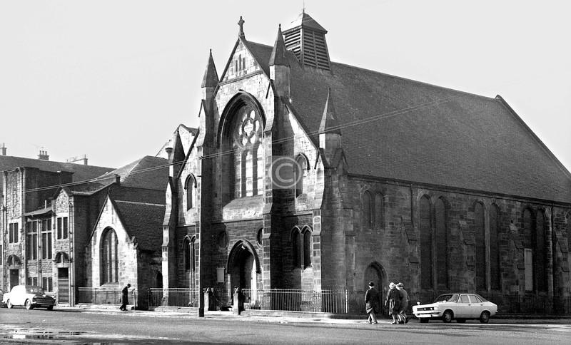 Golspie St and Fairfield St.  Fairfield U F Church.    February 1974