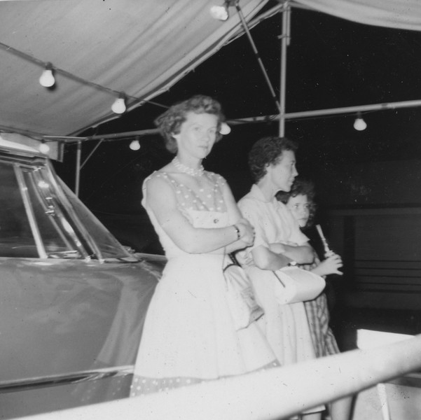 Edna Poole Mammie and Phyllis Tolbert (at car stand)
