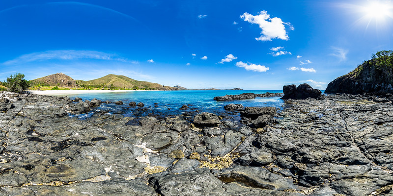 Cape Rocks from Paradise Beach 2 - Yasawa - Fiji Islands