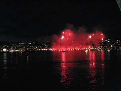 Fireworks at Cannes, France, July 9