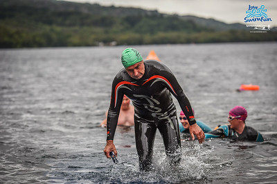 Big Welsh Swim - Finish Pictures of the 9kM Green Hats,