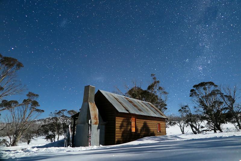 Night Sky over Broken Dam Hut