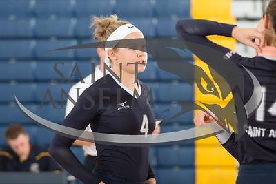 Volleyball vs. Merrimack (10/8/15) Courtesy Jim Stankiewicz
