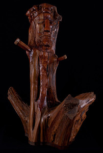 Crucified by Bro. Edwin Reggio juniper stump carving
