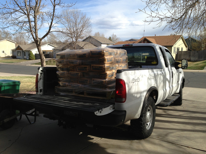 Full pallet of ready mix