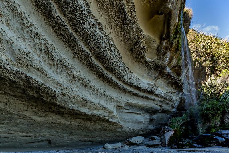 Wasserfall an der «Truman Beach»