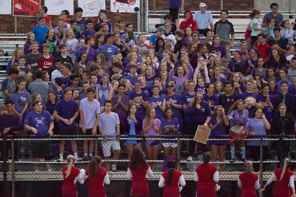 . Jen Forbus - The Morning Journal<br> Fairview fans show their support of the Warrios on Sept. 7.
