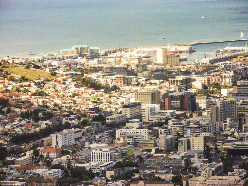 A view over the central city area of Cape Town