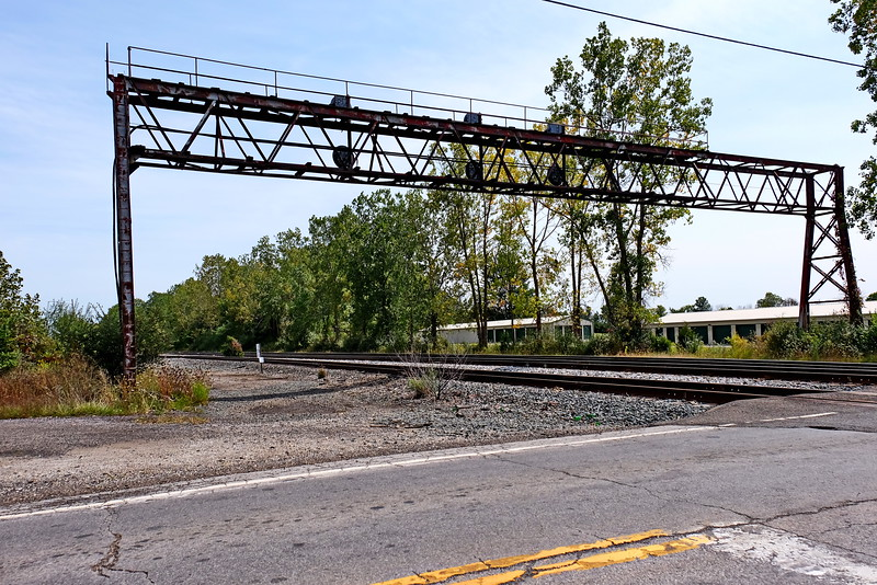 Old PRR signal bridge SR 598 west of Crestline OH looking east.
