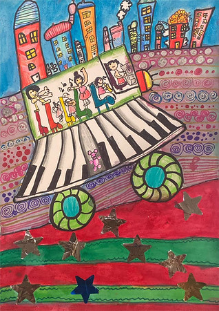 """1st Place – """"My Music and Me"""" by Genevieve Lam"""