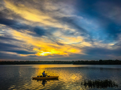 2017-10-19 Sunset Marine Creek Reservoir Fort Worth Texas
