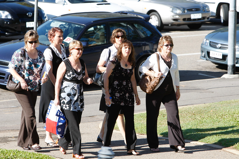 04 August 2008 Townsville, QLD - Relatives of the three missing sailors from Kaz II arrive for the inquest at Townsville Magistrates court - Photo: Cameron Laird (Ph: 0418 238811)