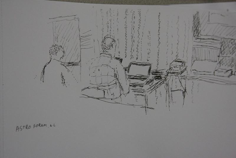 Tekening copyright by Chris Doom (Arisos). Foto gemaakt door Emiel Kempen
