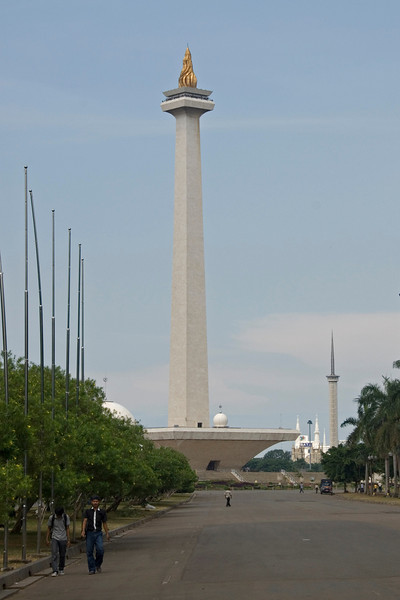 The National Monument tower overlooking the Merdeka Square in Jakarta, Indonesia