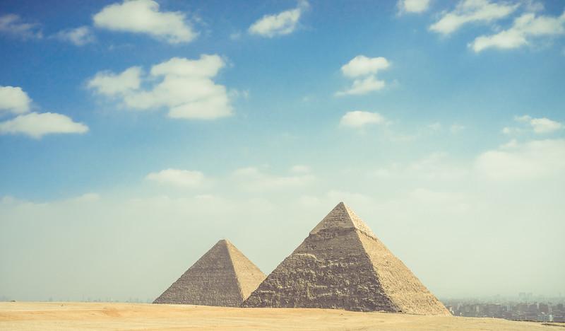Vista del Cairo desde Giza. Egipto