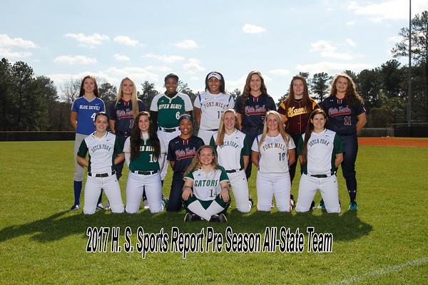 2017 H. S. Sports Report Pre Season All-State Team  Softball