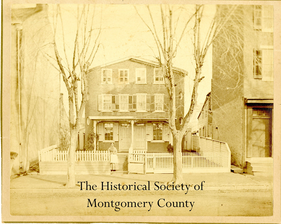 . This photo from the Historical Society of Montgomery County shows the home of Edward Hocker, a carpenter. It stood at 345 East Main Street in Norristown.