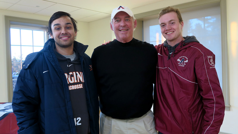 Mike Herring '15, Kevin Driscoll '72, P'08 and Theo Dol '15