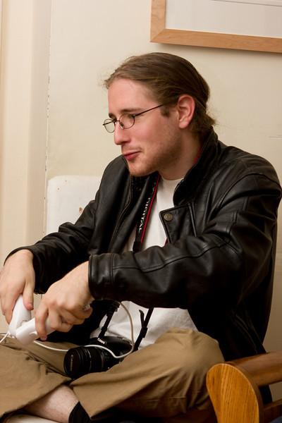 Mike playing killer rabbids.