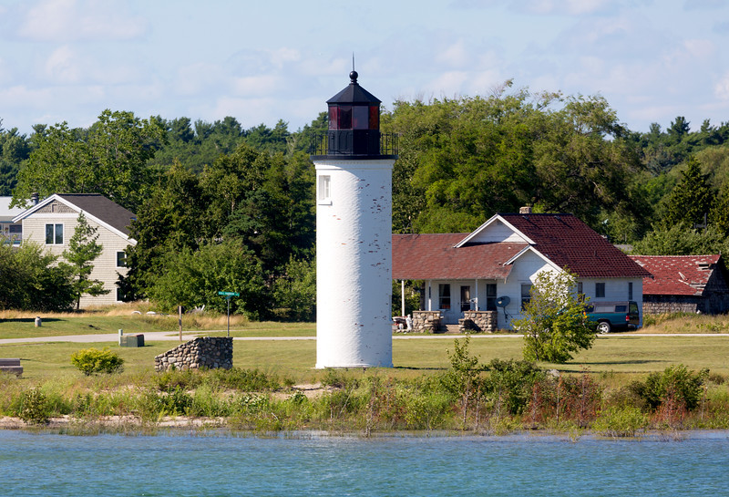 We reach Beaver Island.  This is the Beaver Island Lighthouse.