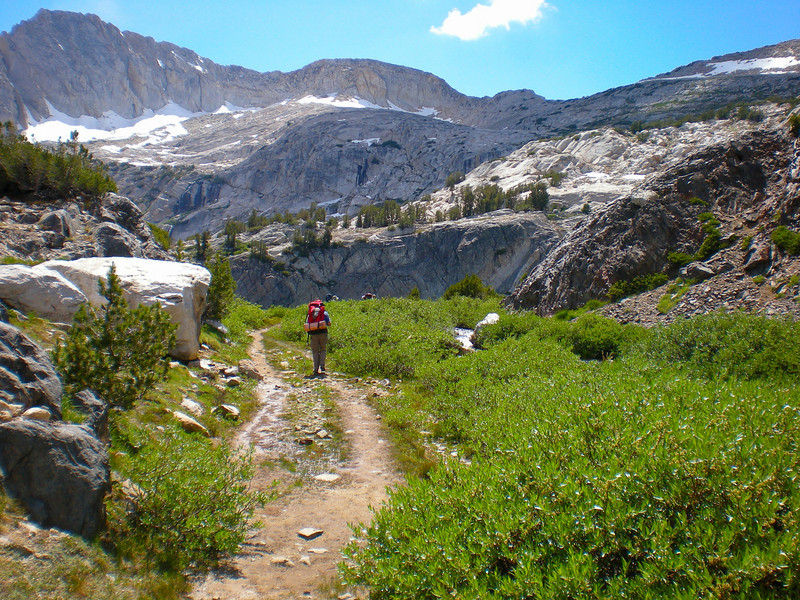 North Peak above the trail.