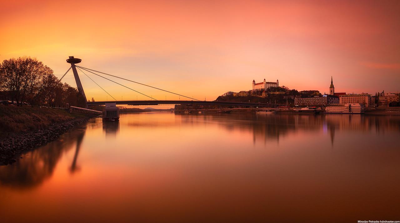 Soft sunset in Bratislava, Slovakia