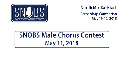 2018-0511 SNOBS -Friday -male Chorus Finals