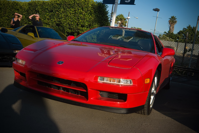 Damn shadows...I waited too long to take a shot of my NSX in the lot!