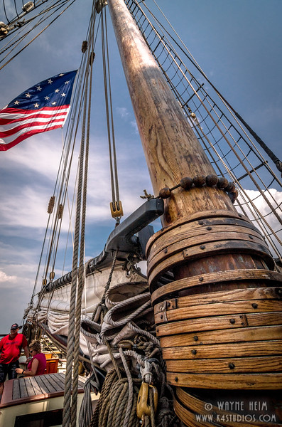 Base of the Mast    Photography by Wayne Heim