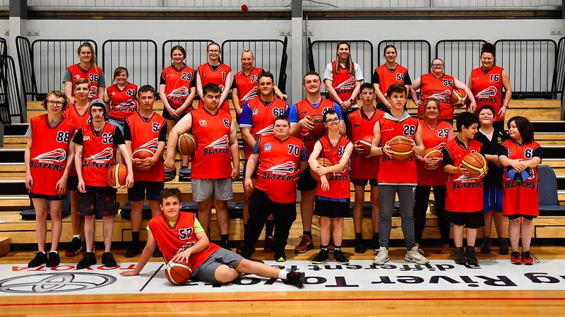 Berri Blazers Basketball Disability Program Team photo