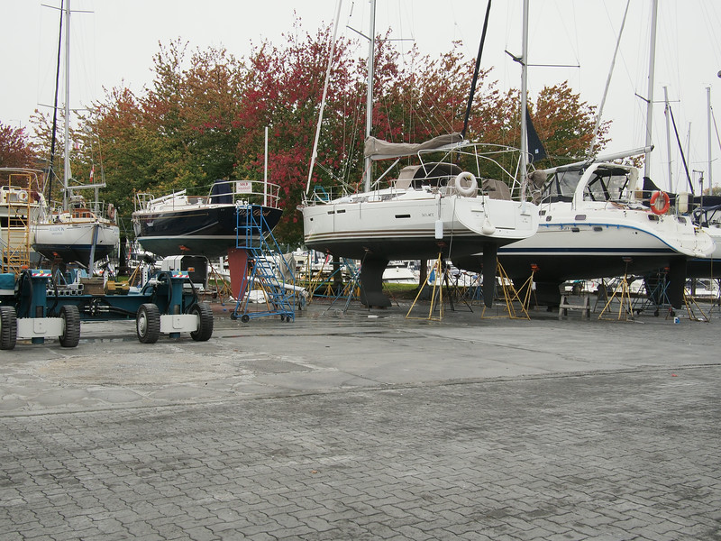 Oct. 19/13 - Dry-docked boats in the Boat Yard