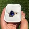 7.00ctw Tanzanite and Diamond Halo Ring 11