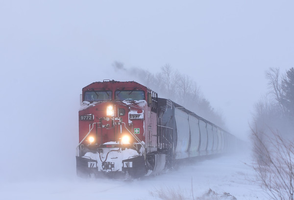 Canadian Pacific 253, Lacolle, Quebec, January 21 2019.