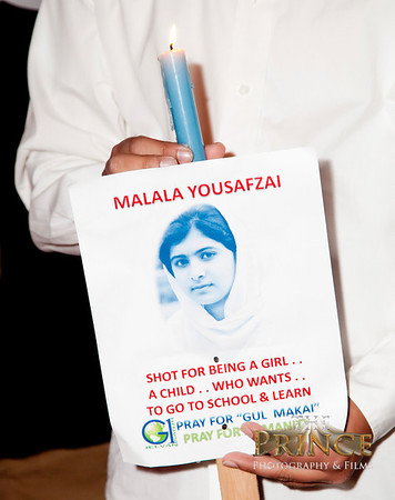 Light a candle for Malala in Dallas Tx