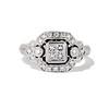 Art Deco Inspired Princess Cut Diamond Halo Ring 0